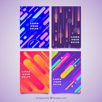 Cover Vorlage Sammlung mit bunten Linien