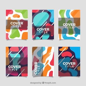 Cover vorlage sammlung mit organischen formen