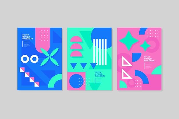 Coversets mit bunten abstrakten formen