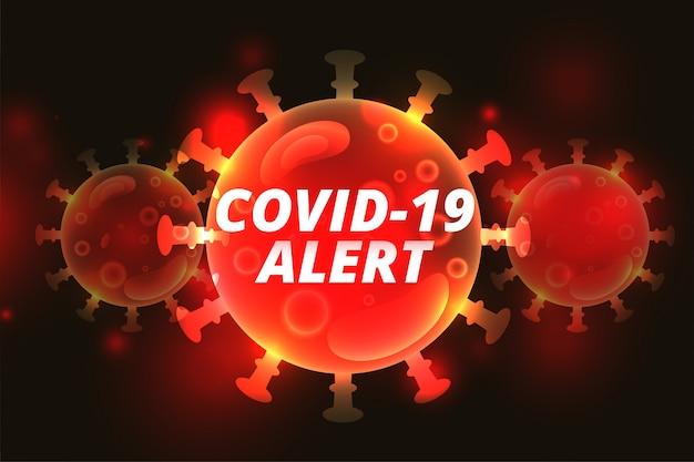Covid-19 coronavirus ausbruch hoher alarm hintergrund design