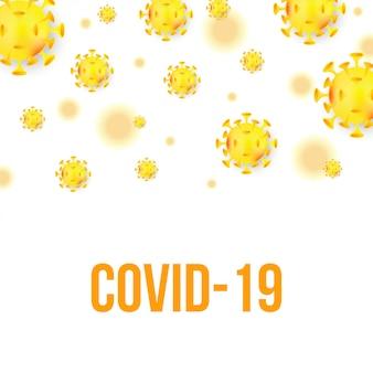 Covid-19 coronavirus hintergrundillustration