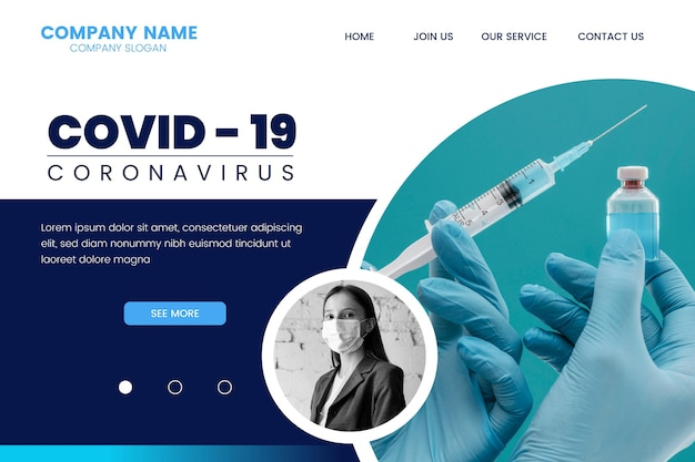 Covid 19 landing page
