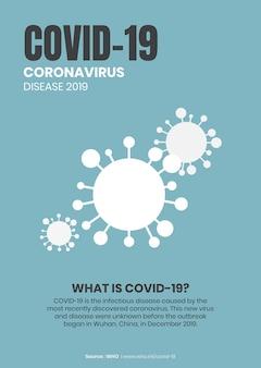 Covid-19-prävention coronavirus-bewusstseinsnachricht