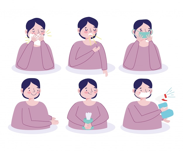 Covid 19 prävention menschen medizinische schutzsymptome gesundheitswesen