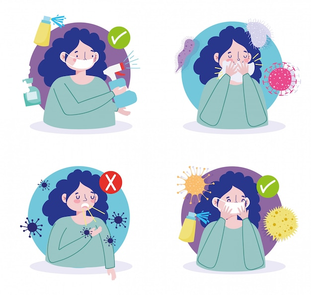 Covid 19 präventionsmaßnahmen, die nicht krank werden und keine viren verbreiten