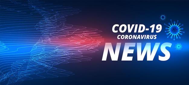 Covid-19 roman coronavirus neuesten nachrichten banner vorlage