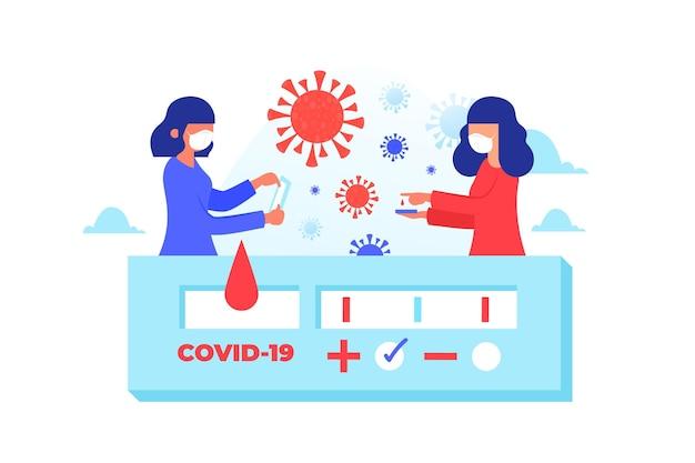 Covid-19-schnelltest dargestellt