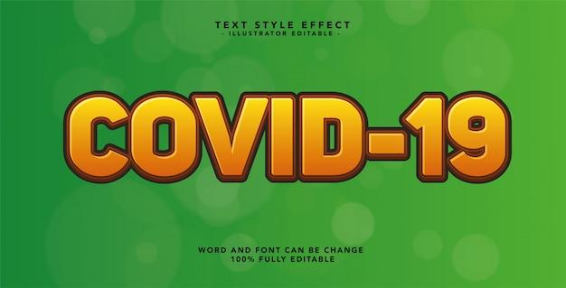 Covid-19-texttypografie