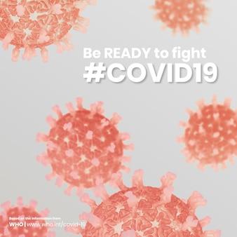 Covid-19- und corona-virus-awareness-vorlagenvektor