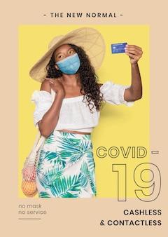 Covid-19-vorlage in neuer normalität