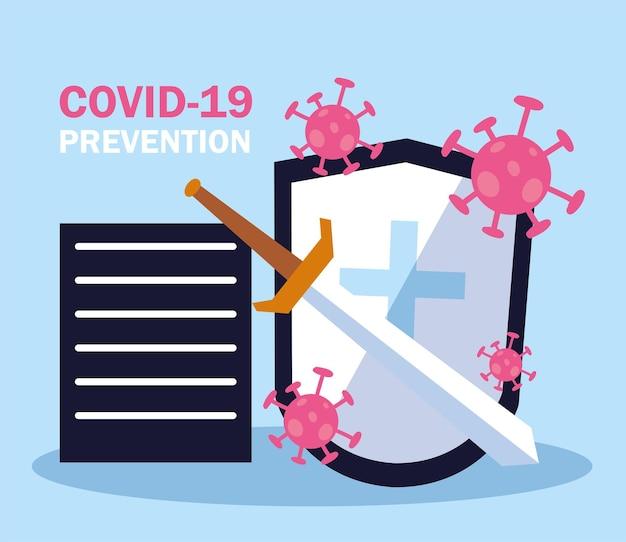 Covid-schild bekämpfen