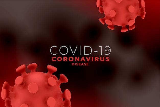 Covid19 coronavirus-pandemie-hintergrund mit viruszelle