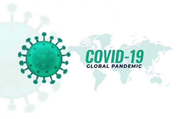 Covid19 coronavirus pandemie-infektion ausbruch hintergrund design