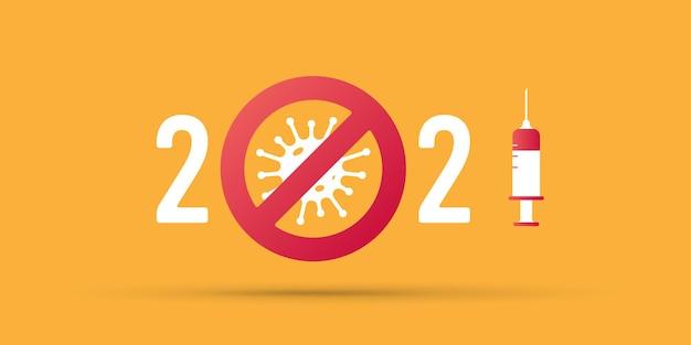 Covid19 impfung. stoppen sie das coronavirus im jahr 2021