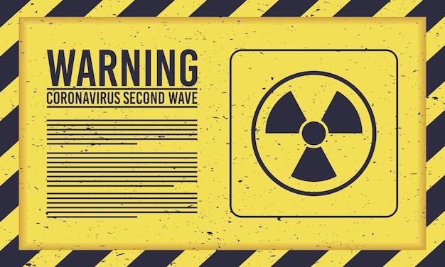 Covid19-kampagne der zweiten welle mit atomzeichen