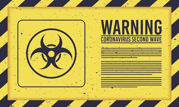Covid19-kampagne der zweiten welle mit biohazard-siegel