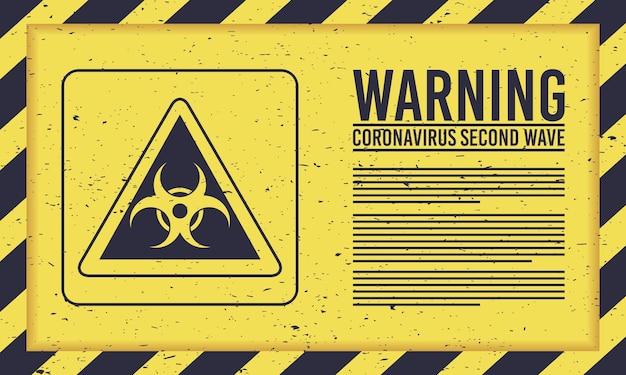 Covid19-kampagne der zweiten welle mit biohazard-zeichen
