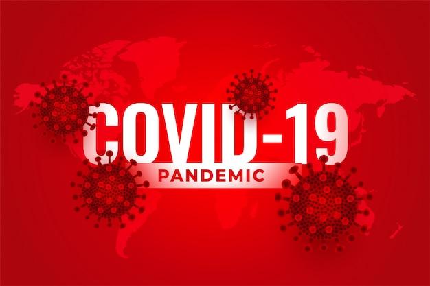 Covid19 neuartiger hintergrund des coronavirus-pandemie-ausbruchs im roten farbton