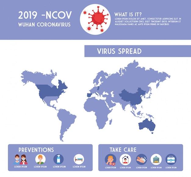 Covid19 pandemie flyer mit infografiken