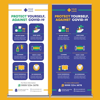 Covid19 posterdruckvorlage im flat design style