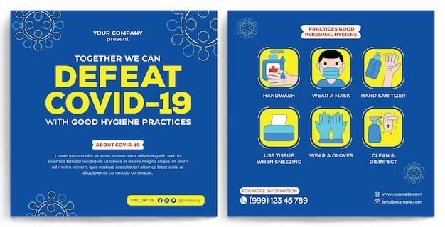 Covid19-promotion-feed-instagram im flachen design-stil