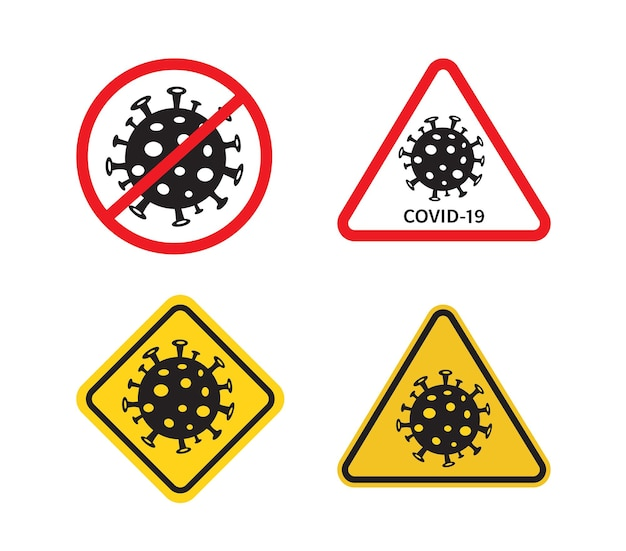 Covid19-schilder stoppen sie das coronavirus coronavirus covid19-ausbruch verursacht