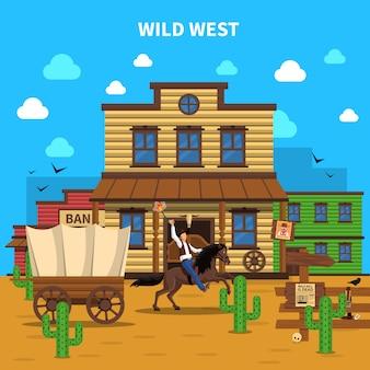 Cowboy hintergrund illustration