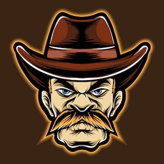 Cowboy-karikatur