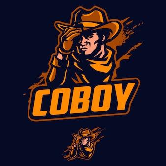 Cowboy-maskottchen-vektor