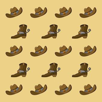 Cowboy-muster hintergrund