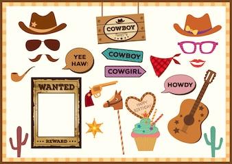 Cowboy-Party-Requisiten