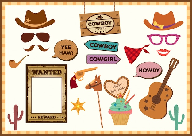 Cowboy-party-requisiten