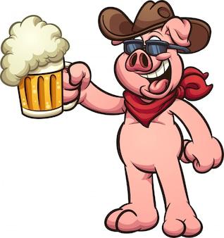 Cowboy-schwein