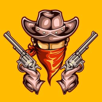Cowboy und waffen wollten wilden westen