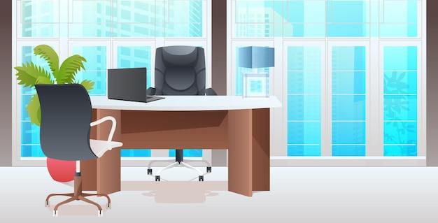 Coworking center moderner schrank innen büroraum mit möbeln horizontal