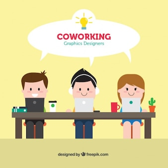 Coworking graphic designers