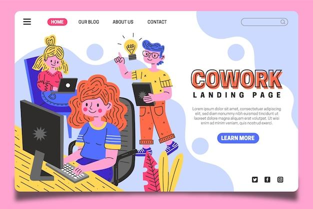 Coworking landing page vorlage