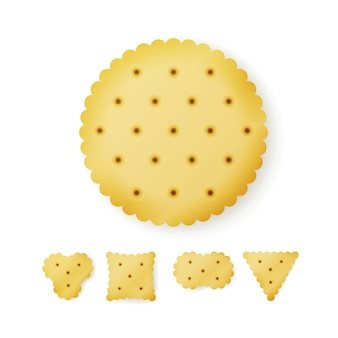 Cracker in verschiedenen formen
