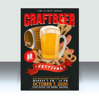 Craft beer festival plakat vorlage