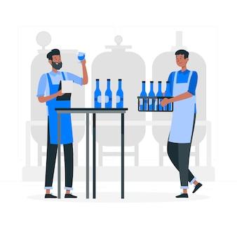 Craft beer herstellungskonzept illustration