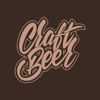 Craft beer logo im vintage-stil. für etikettendesign, brauerei. vektor-illustration.