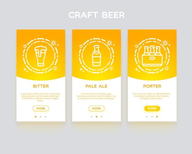 Craft bier, anwendung onboarding.