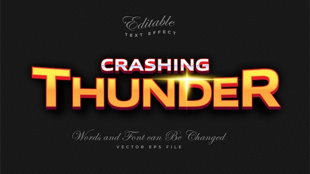 Crashing thunder bold text-effekt