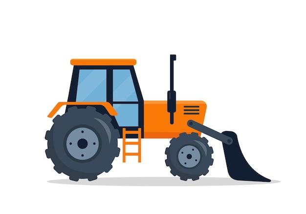 Crawler bulldozer lokalisiert auf weißem hintergrund.