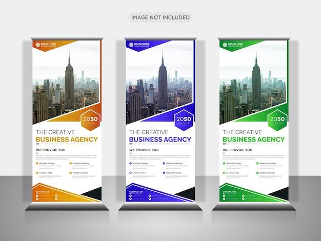 Creative business agency roll-up-banner-design oder pull-up-banner-design