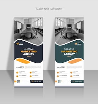 Creative business roll-up-banner-vorlage