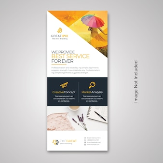 Creative business rollup-banner