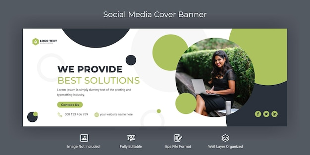 Creative business social media facebook cover banner vorlage