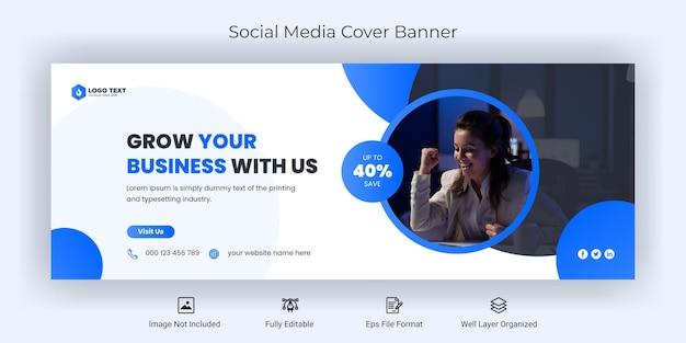 Creative business social media facebook-cover-banner-vorlage