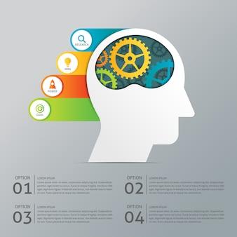 Creative business step infografische vorlage